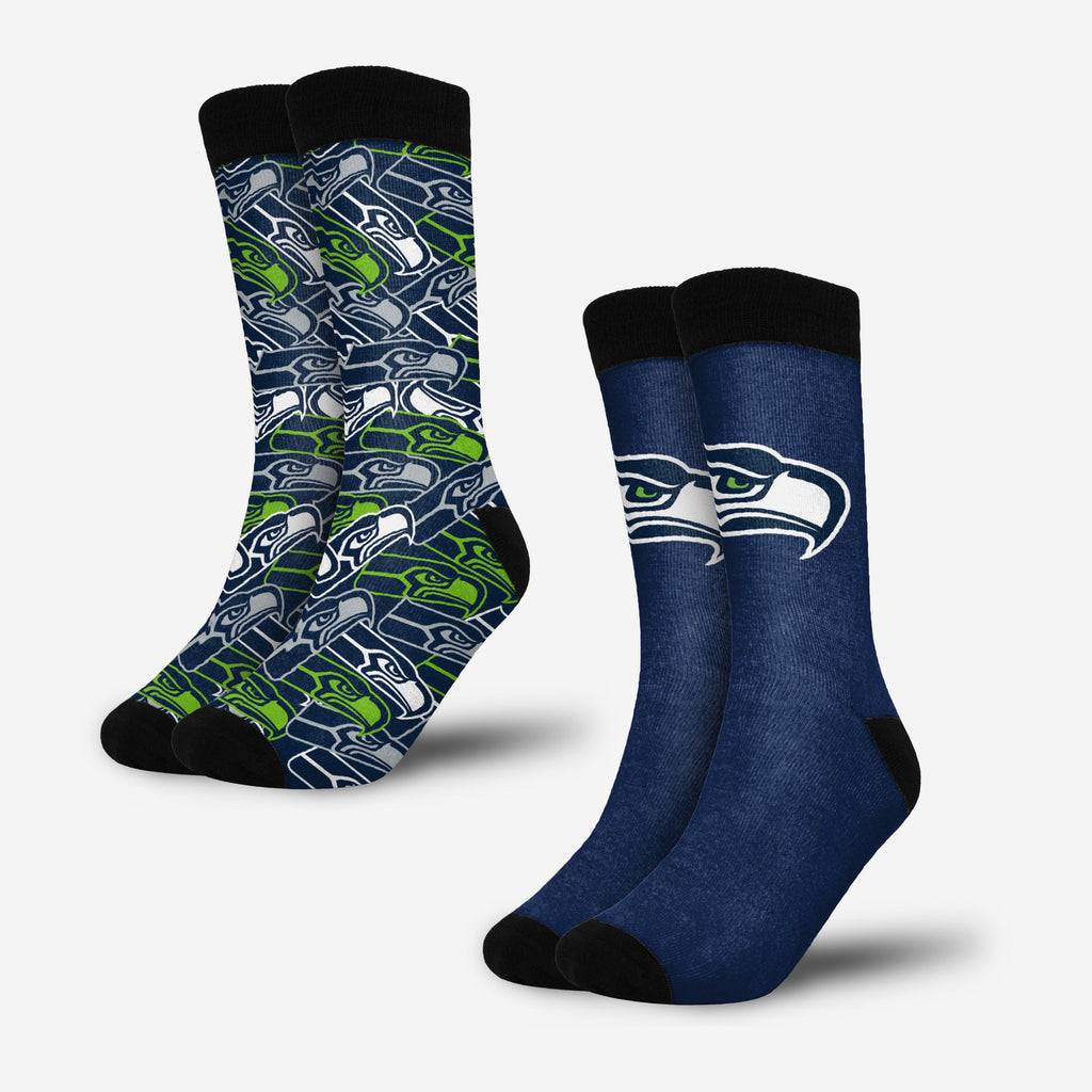Seattle Seahawks Primetime Blast Socks 2 Pack