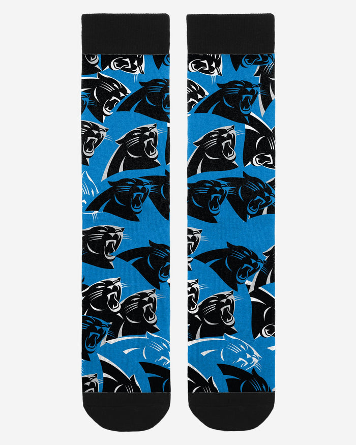 Carolina Panthers Logo Blast Socks FOCO - FOCO.com