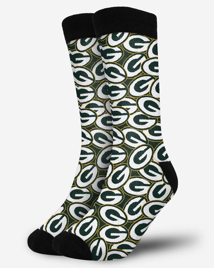 Green Bay Packers Logo Blast Socks FOCO - FOCO.com