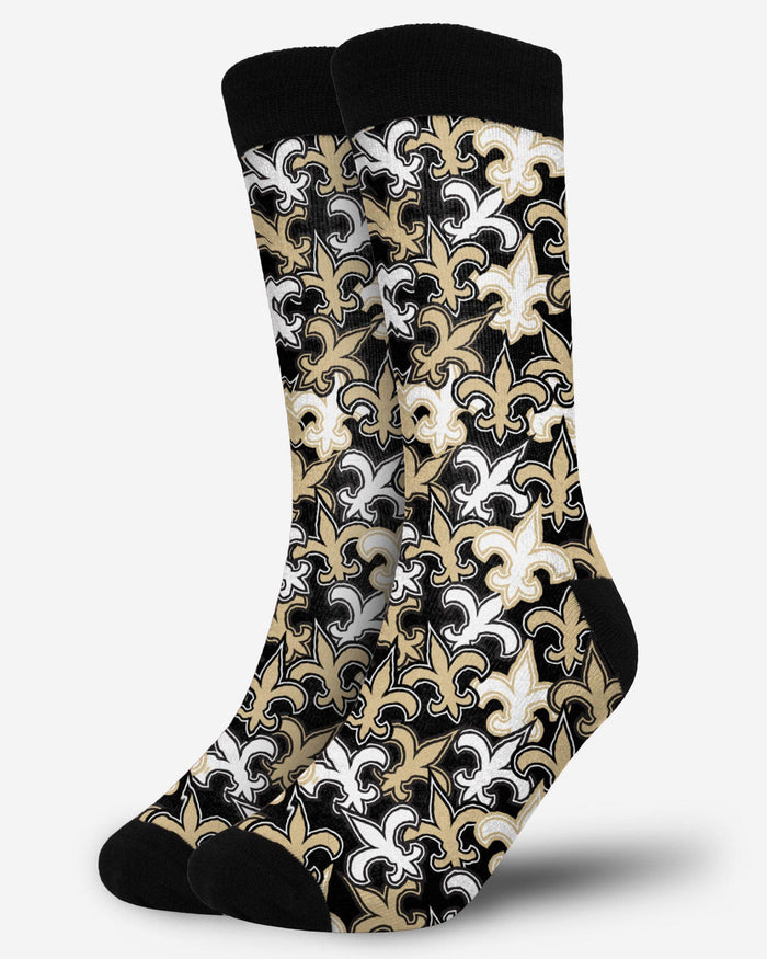 New Orleans Saints Logo Blast Socks FOCO - FOCO.com