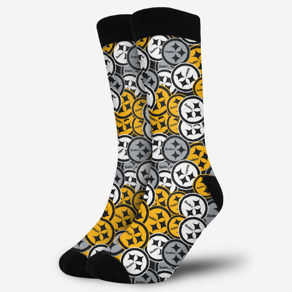Pittsburgh Steelers Logo Blast Socks FOCO - FOCO.com