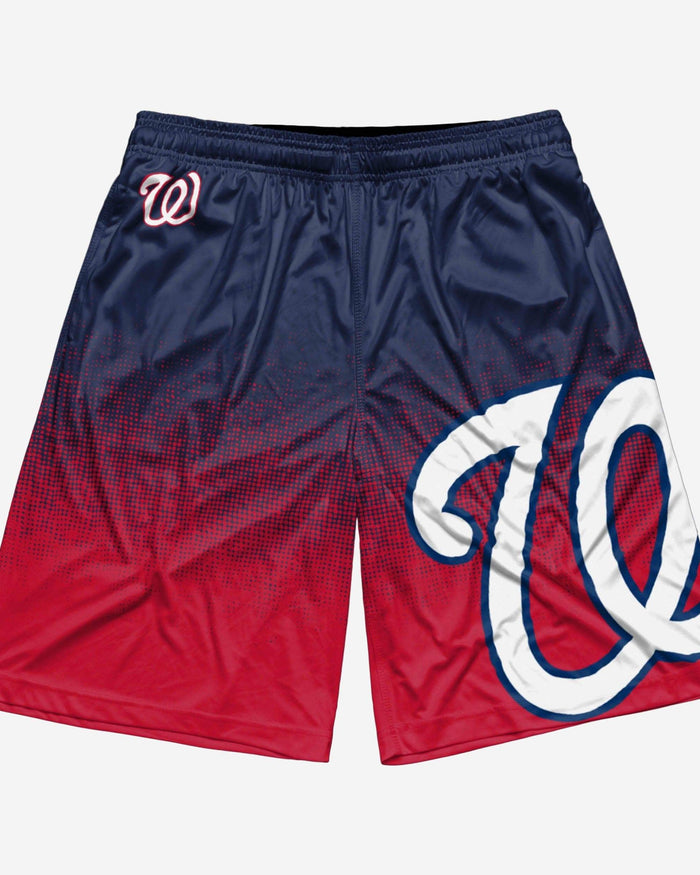 Washington Nationals Gradient Polyester Short FOCO - FOCO.com