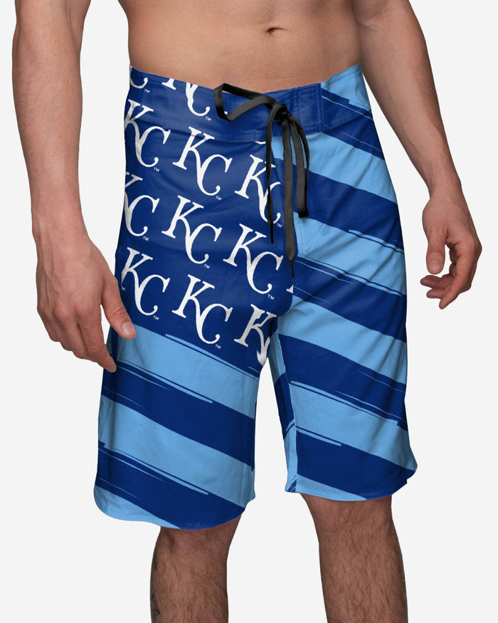 Kansas City Royals Diagonal Flag Boardshorts FOCO S - FOCO.com