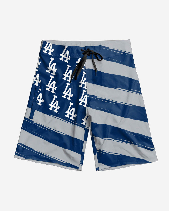 Los Angeles Dodgers Diagonal Flag Boardshorts FOCO - FOCO.com