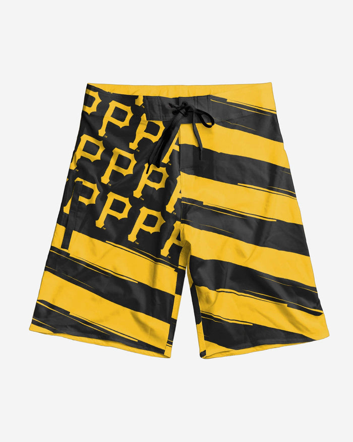 Pittsburgh Pirates Diagonal Flag Boardshorts FOCO - FOCO.com