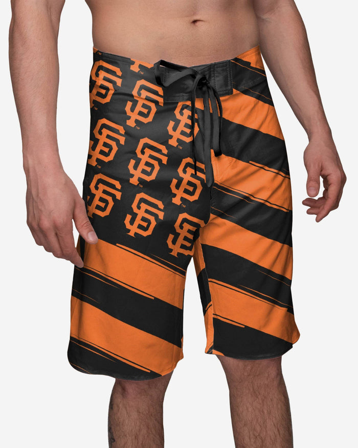 San Francisco Giants Diagonal Flag Boardshorts FOCO S - FOCO.com