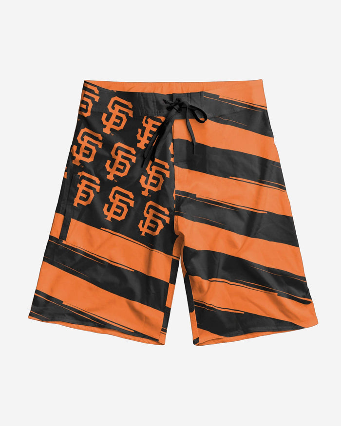 San Francisco Giants Diagonal Flag Boardshorts FOCO - FOCO.com