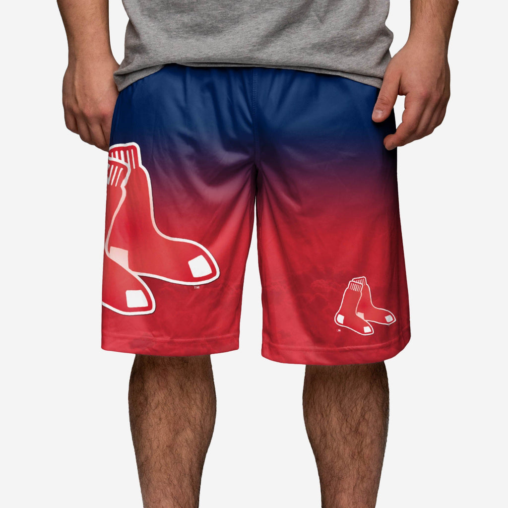 Boston Red Sox Gradient Big Logo Training Short FOCO - FOCO.com