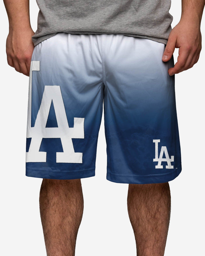 Los Angeles Dodgers Gradient Big Logo Training Short FOCO - FOCO.com