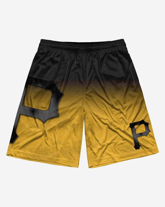 Pittsburgh Pirates Gradient Big Logo Training Short FOCO - FOCO.com