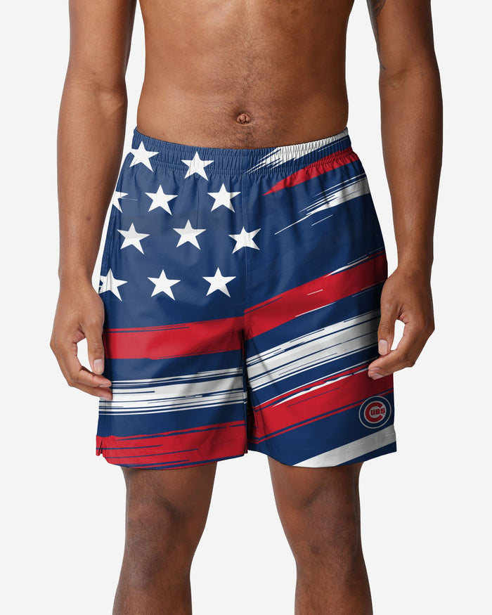 Chicago Cubs Americana Swimming Trunks FOCO S - FOCO.com