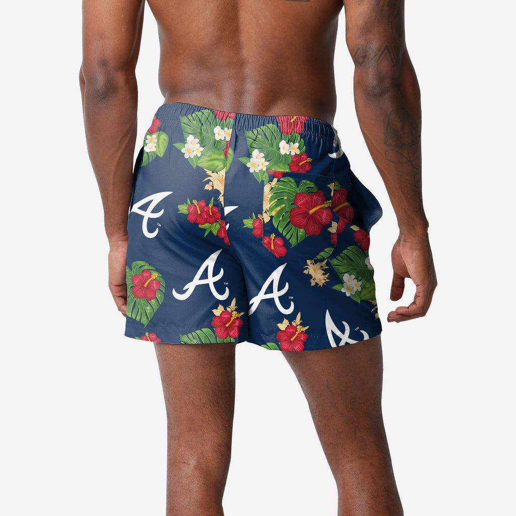 Atlanta Braves Floral Swimming Trunks FOCO - FOCO.com