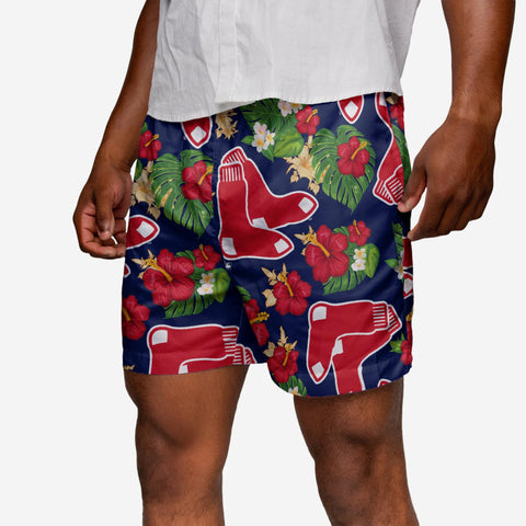 Boston Red Sox Floral Swimming Trunks