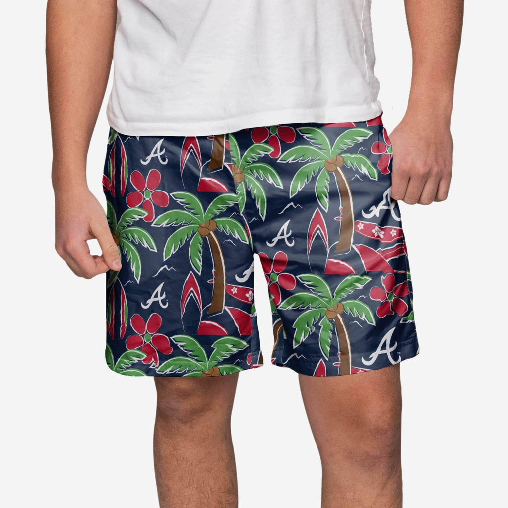 Atlanta Braves Tropical Swimming Trunks FOCO - FOCO.com