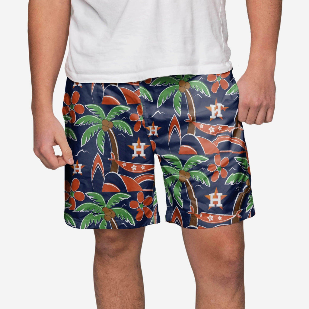 Houston Astros Tropical Swimming Trunks FOCO S - FOCO.com