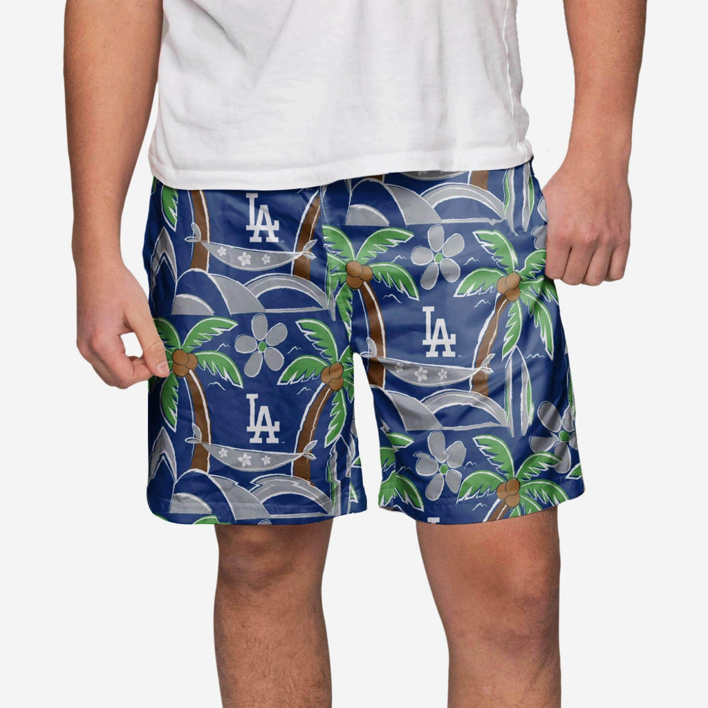 Los Angeles Dodgers Tropical Swimming Trunks FOCO - FOCO.com