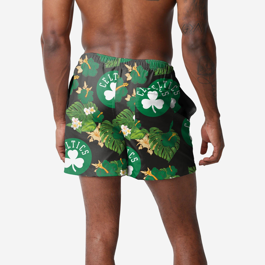 Boston Celtics Floral Swimming Trunks