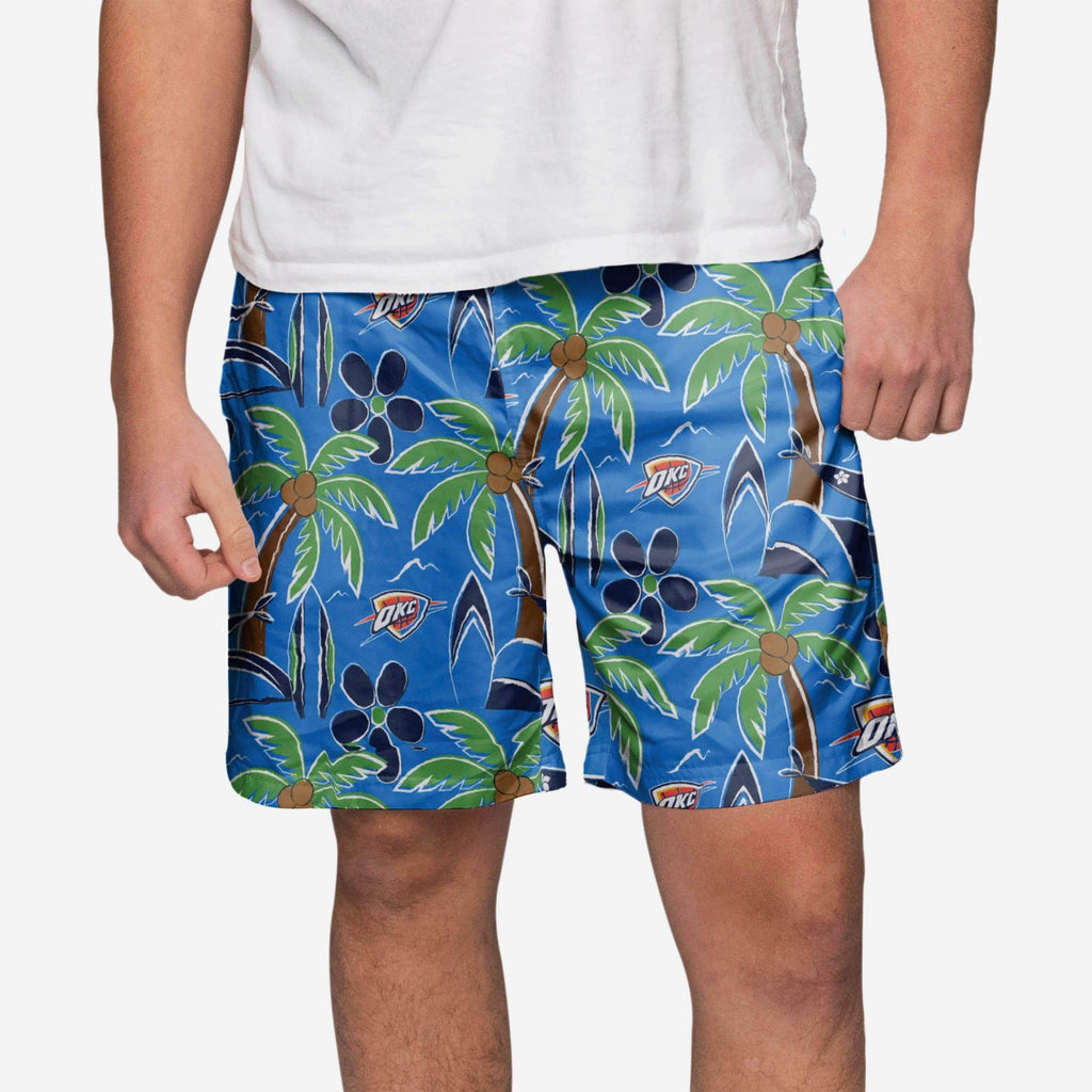 Oklahoma City Thunder Tropical Swimming Trunks FOCO S - FOCO.com