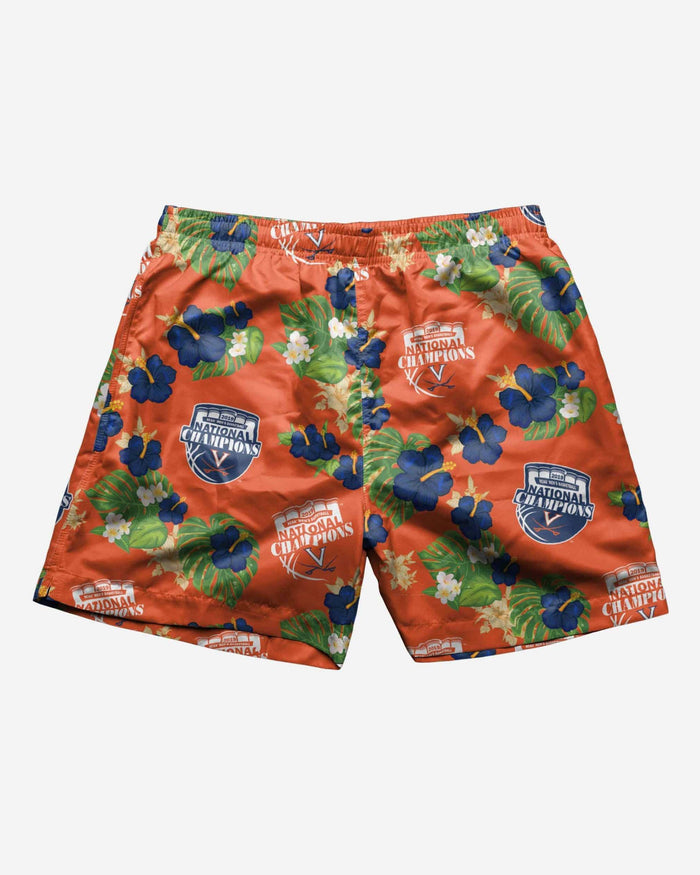 Virginia Cavaliers 2019 NCAA Mens Basketball National Champions Floral Swimming Trunks FOCO - FOCO.com