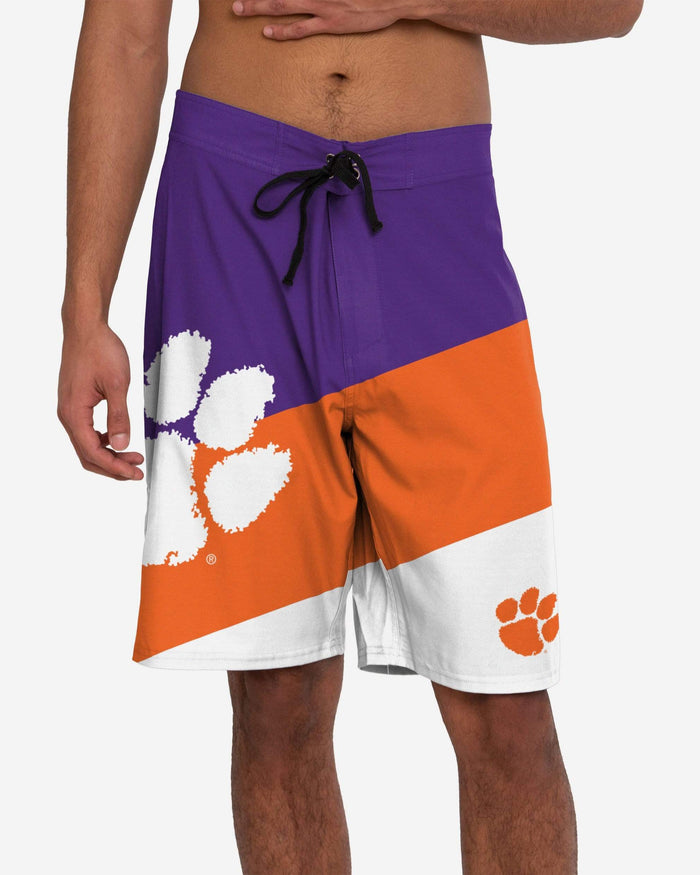 Clemson Tigers Color Dive Boardshorts FOCO S - FOCO.com