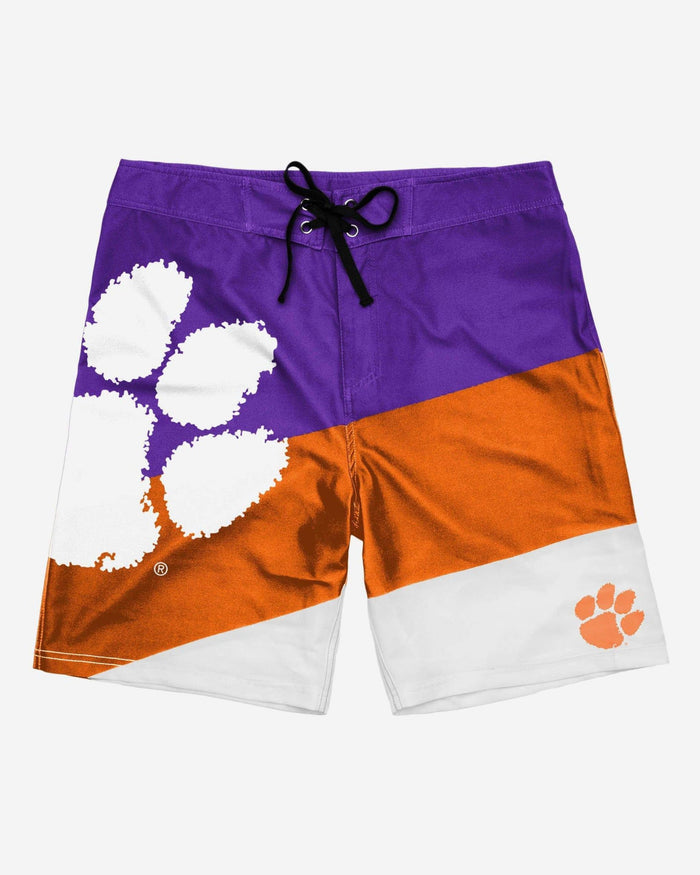 Clemson Tigers Color Dive Boardshorts FOCO - FOCO.com