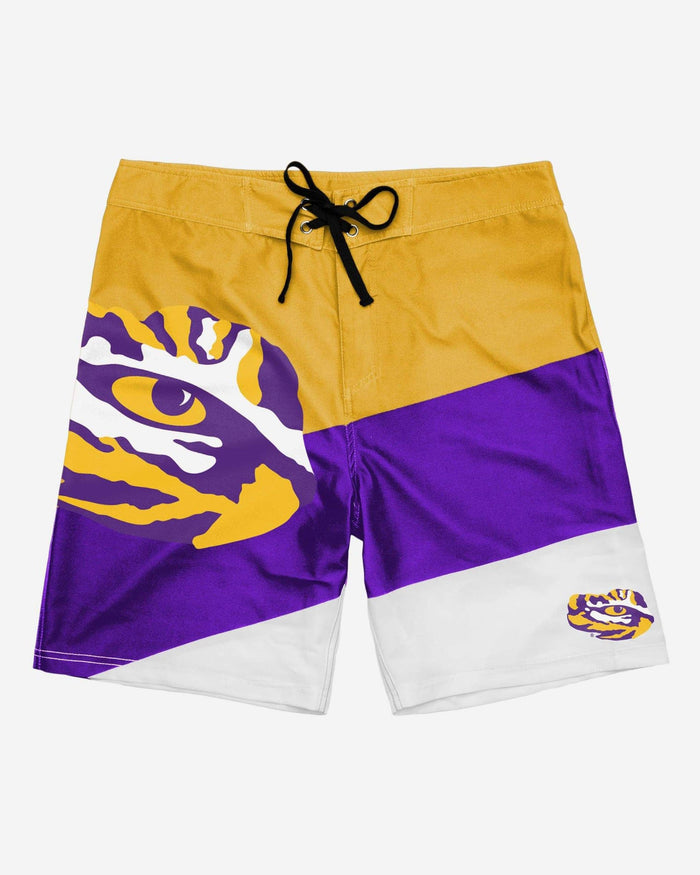 LSU Tigers Color Dive Boardshorts FOCO - FOCO.com
