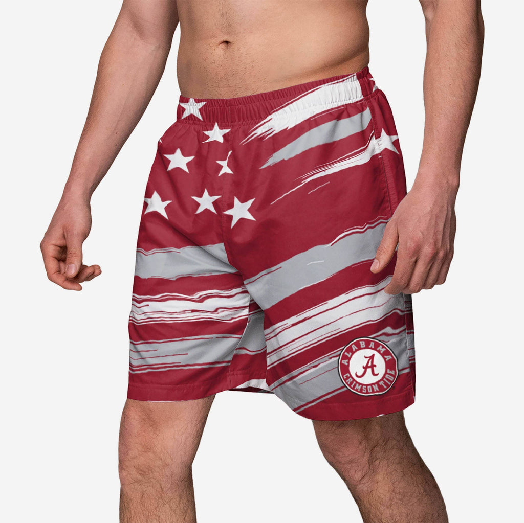 Alabama Crimson Tide Americana Swimming Trunks FOCO - FOCO.com