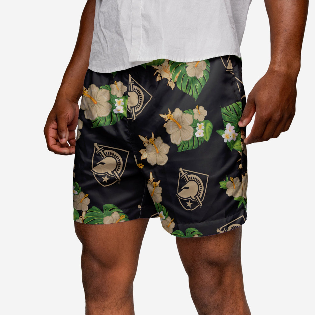 Army Black Knights Floral Swimming Trunks FOCO 2XL - FOCO.com