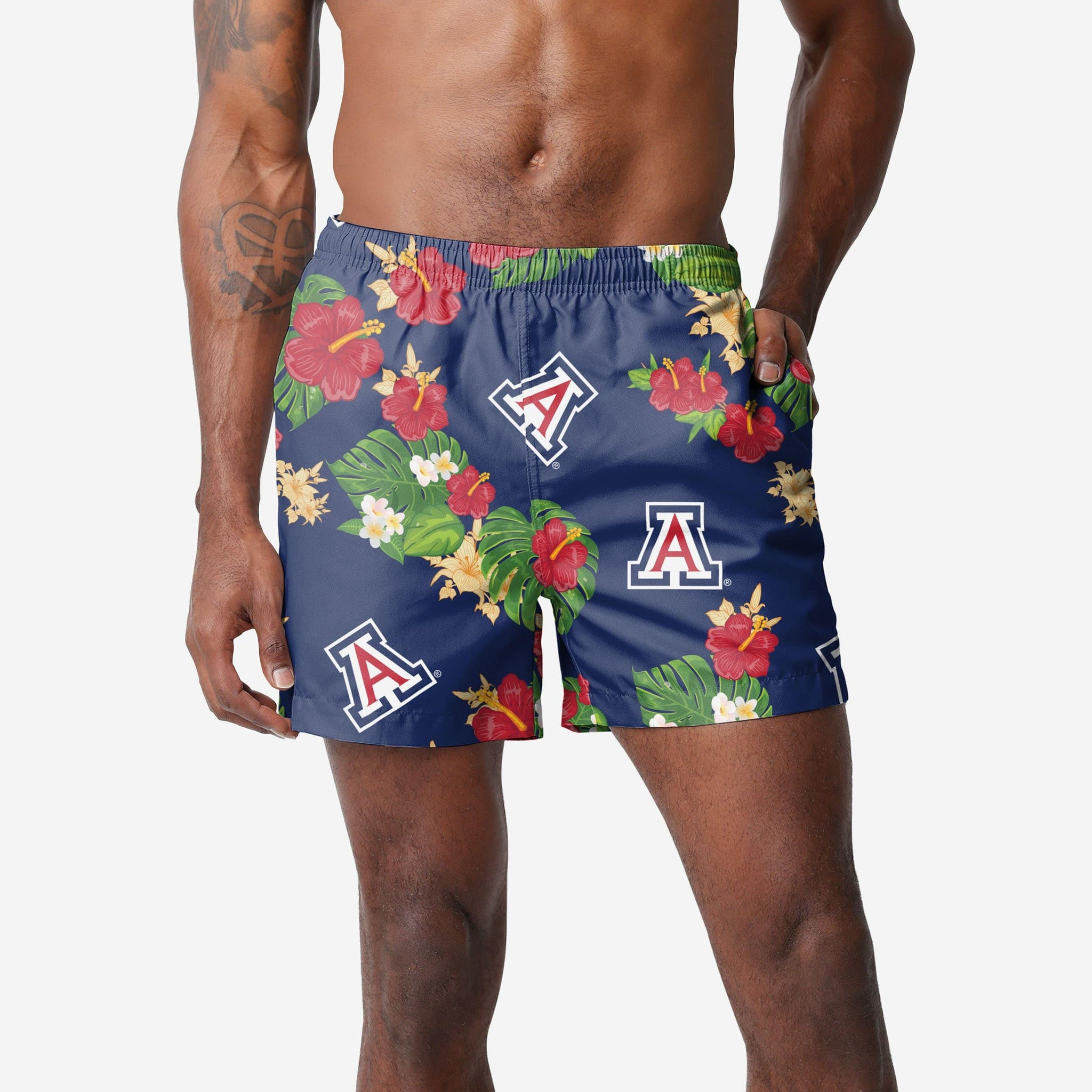 Arizona Wildcats Floral Swimming Trunks
