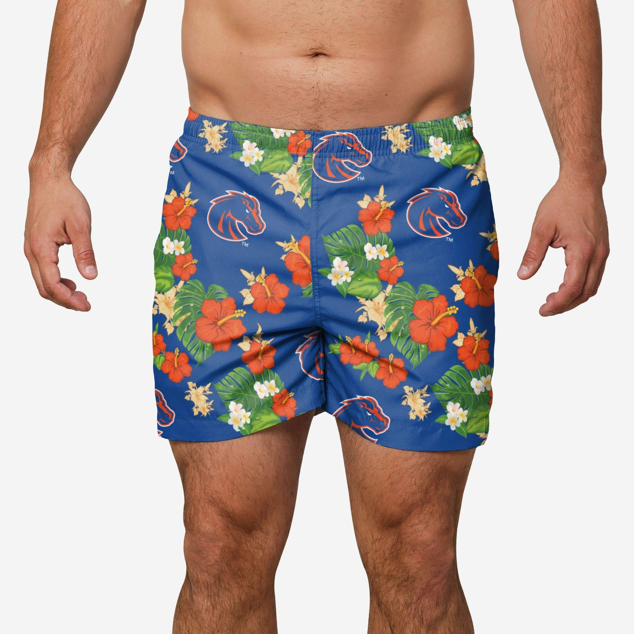 Boise St Floral Swimming Trunks