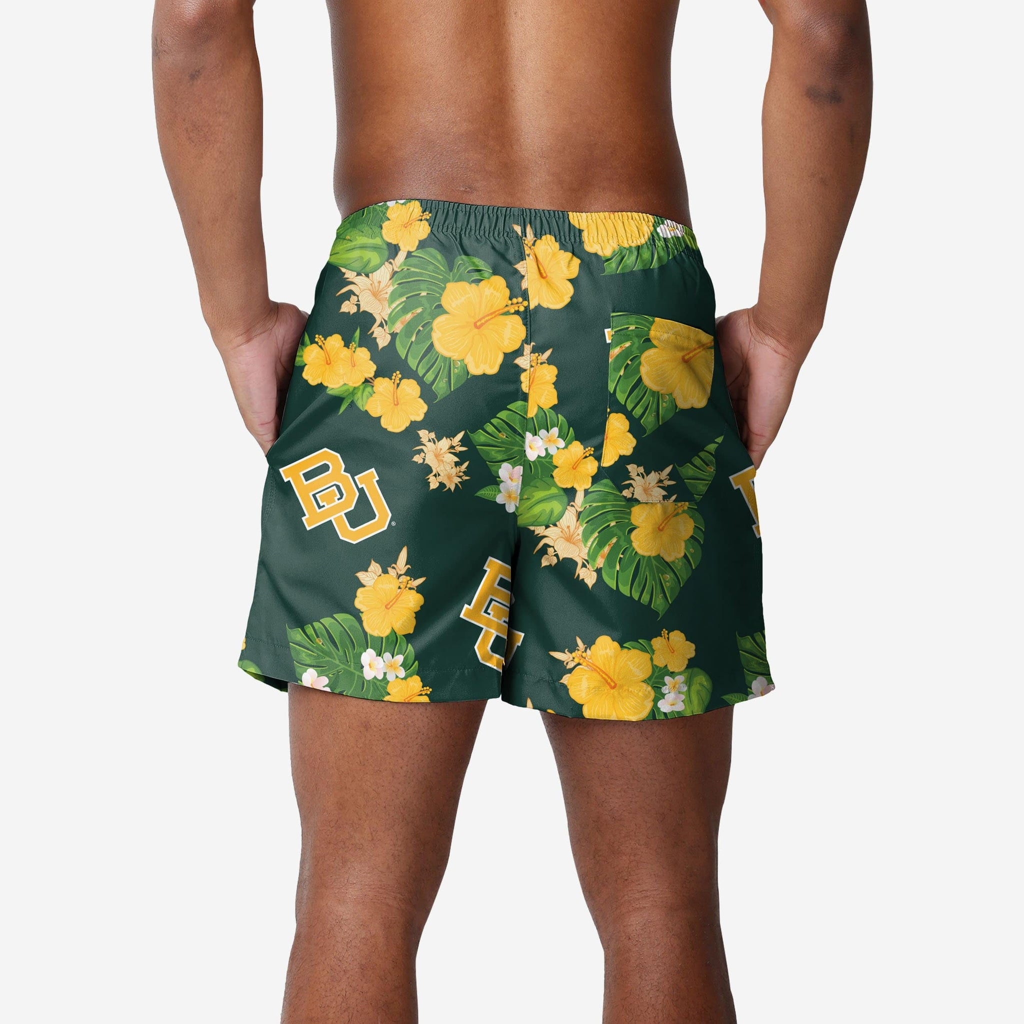 Baylor Bears Floral Swimming Trunks