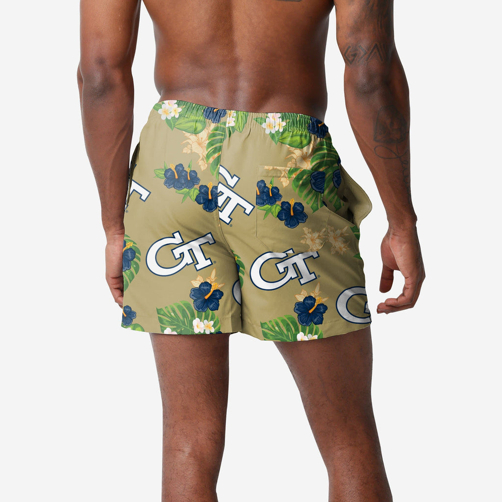Georgia Tech Floral Swimming Trunks