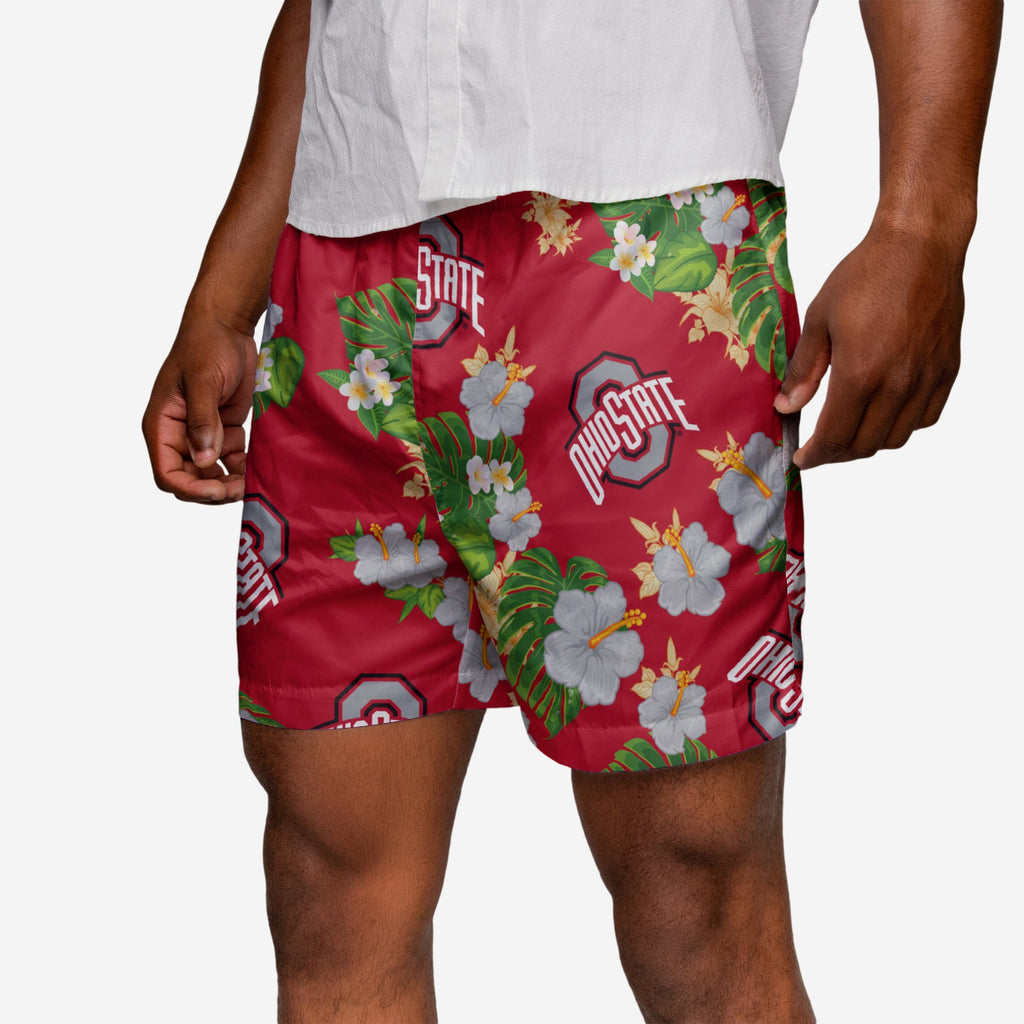 Ohio State Buckeyes Floral Swimming Trunks FOCO 2XL - FOCO.com