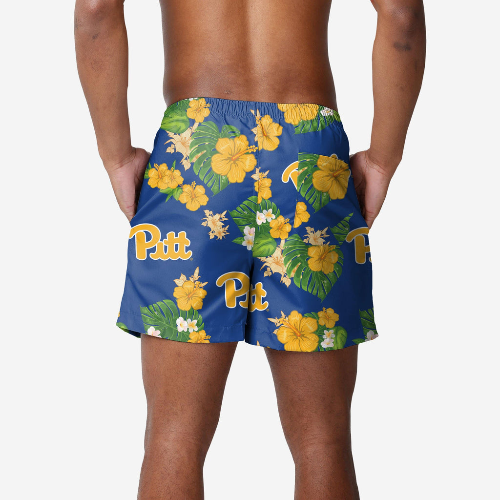 Pittsburgh Panthers Floral Swimming Trunks FOCO 2XL - FOCO.com