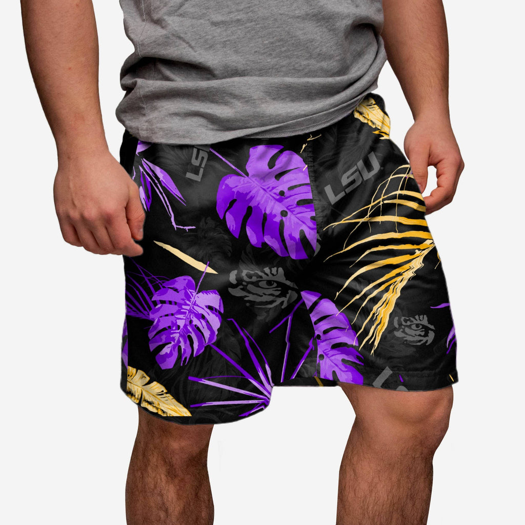 LSU Tigers Neon Palm Shorts FOCO S - FOCO.com