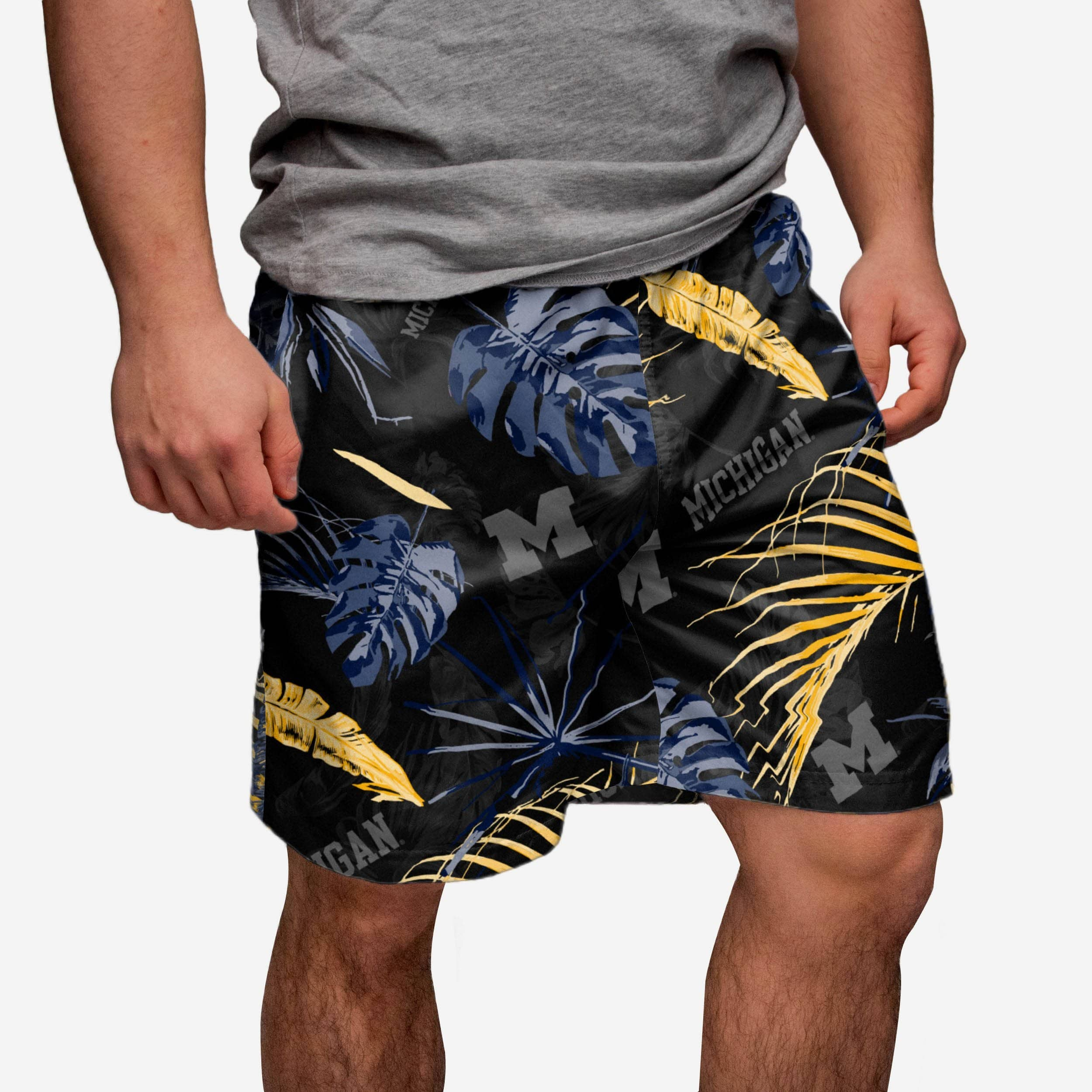 071106b4a9 Michigan Wolverines Neon Palm Shorts FOCO.com