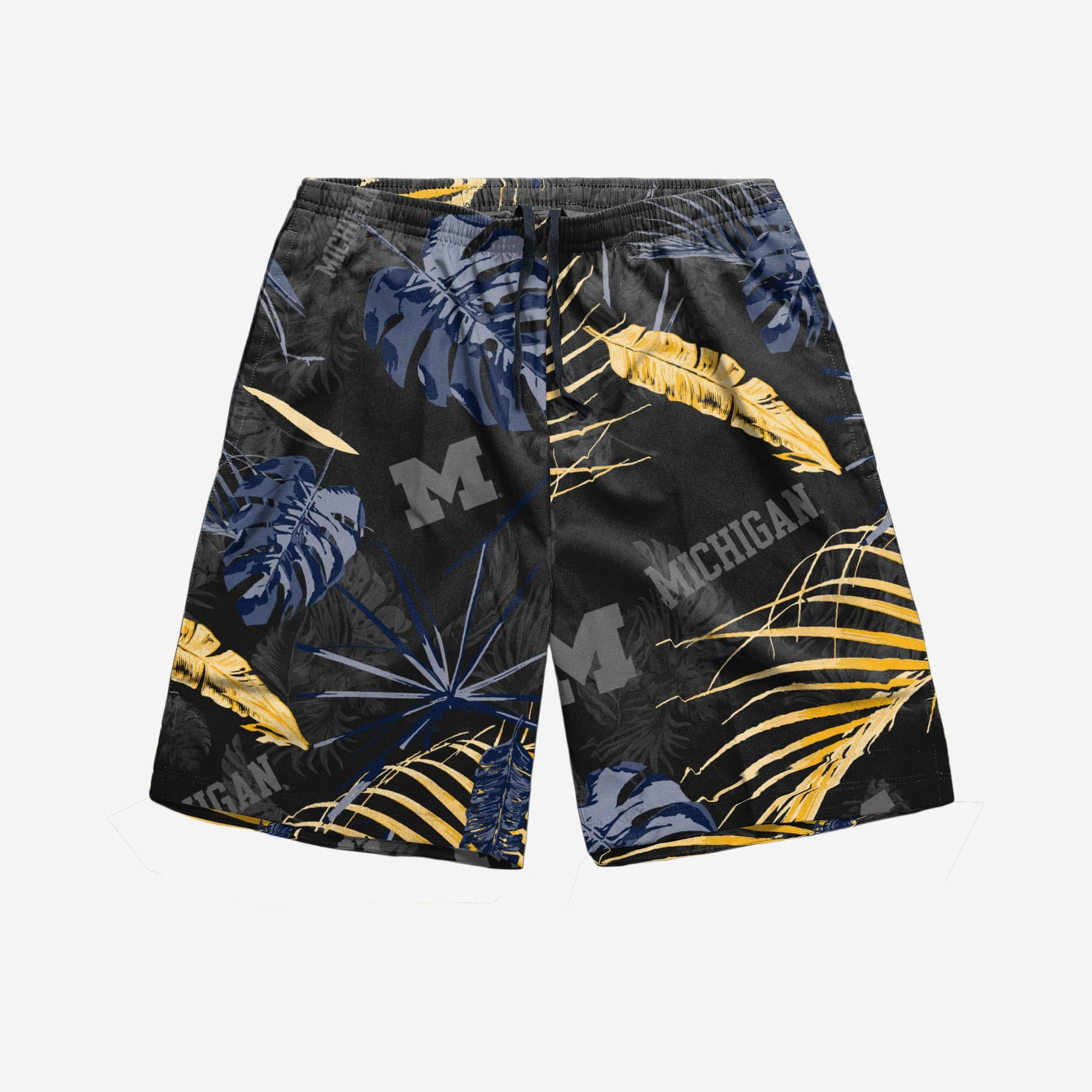 555fbf359f Michigan Wolverines Neon Palm Shorts FOCO - FOCO.com