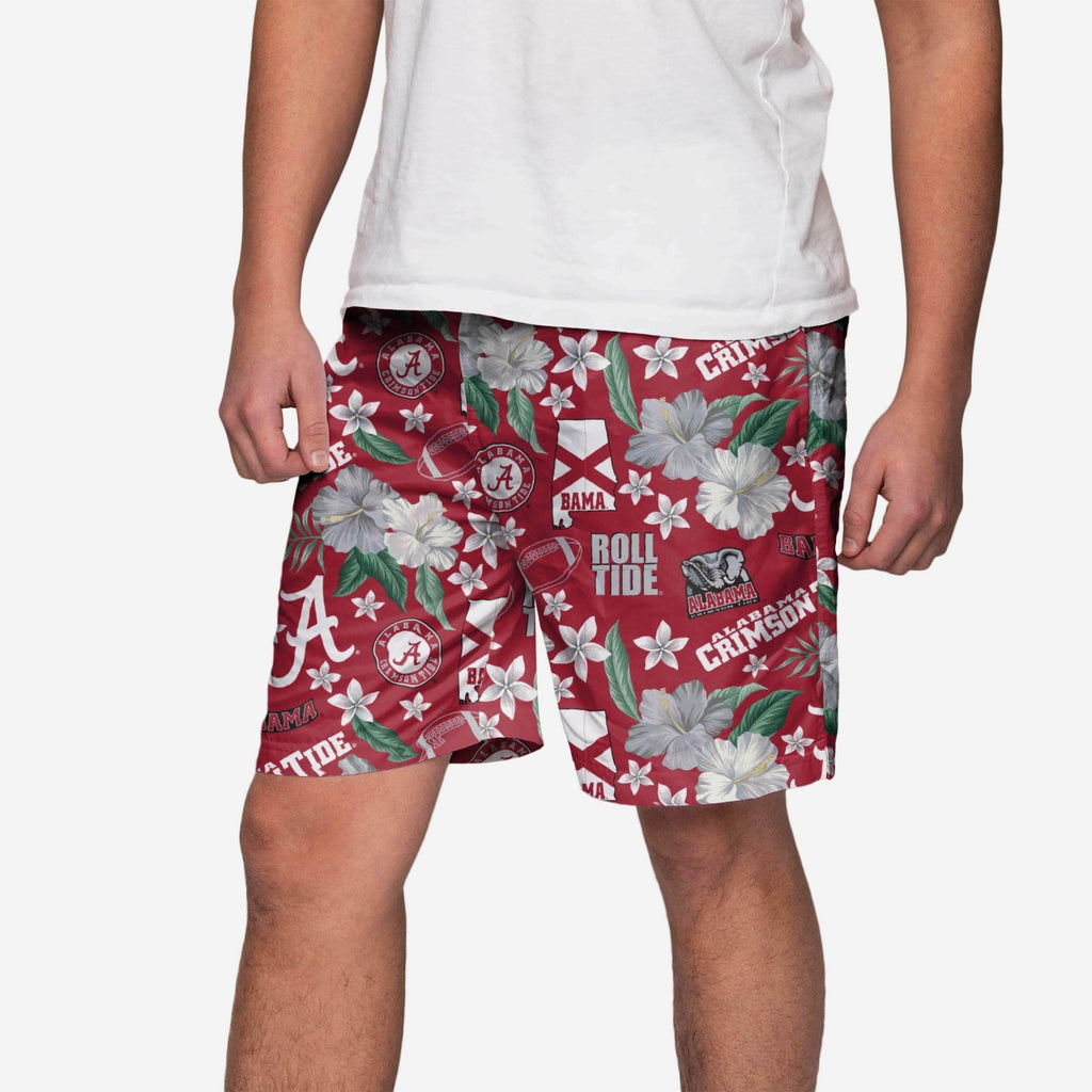 Alabama Crimson Tide City Style Swimming Trunks FOCO S - FOCO.com