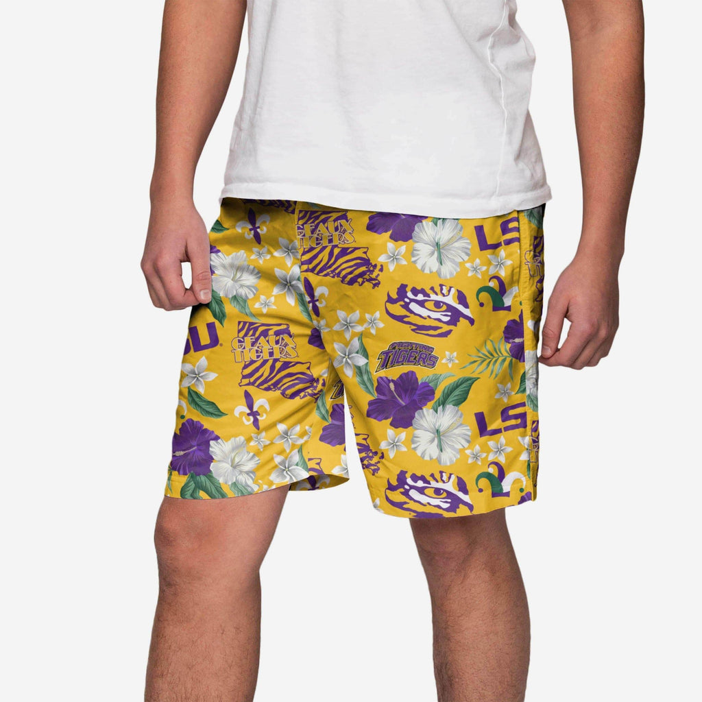 LSU Tigers City Style Swimming Trunks FOCO - FOCO.com