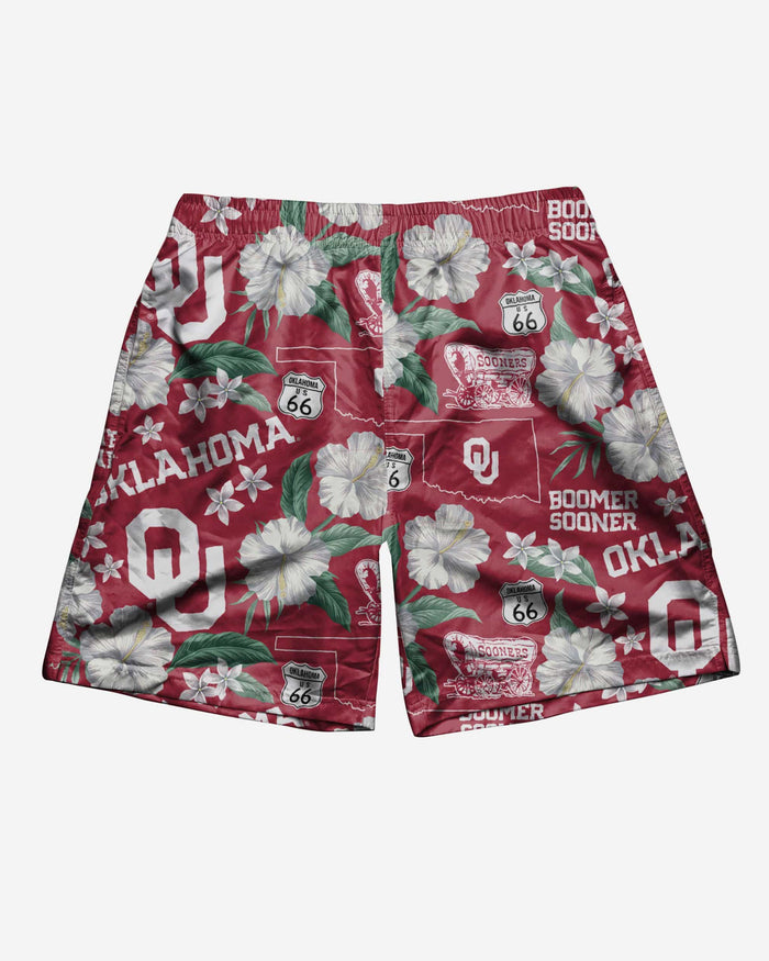 Oklahoma Sooners City Style Swimming Trunks FOCO - FOCO.com