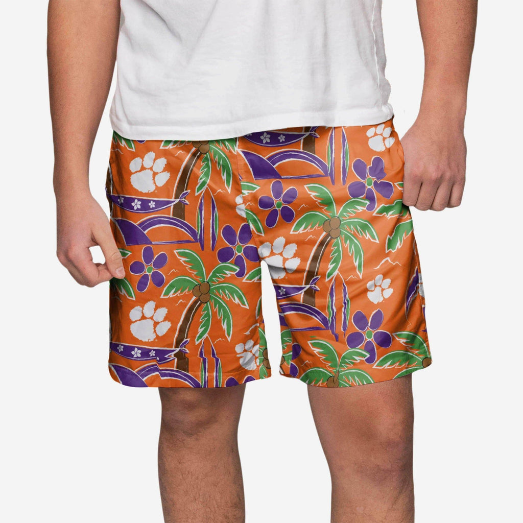 Clemson Tigers Tropical Swimming Trunks FOCO S - FOCO.com