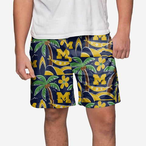 Michigan Wolverines Tropical Swimming Trunks