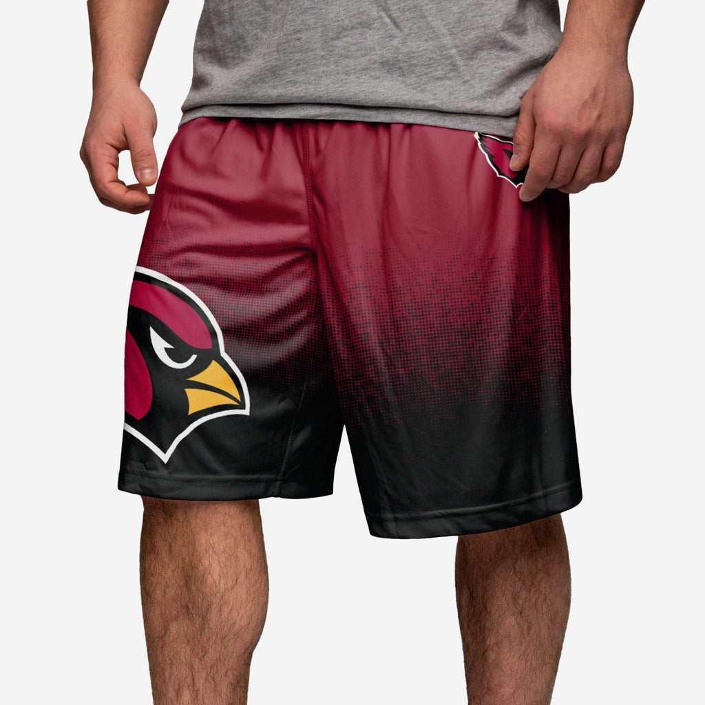Arizona Cardinals Gradient Polyester Short FOCO - FOCO.com
