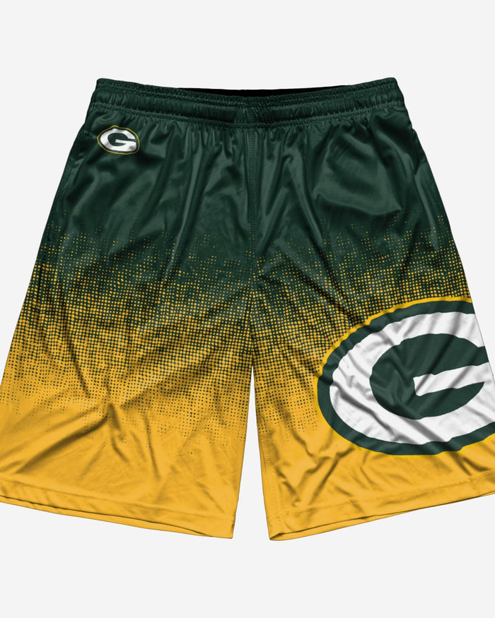 Green Bay Packers Gradient Polyester Short FOCO - FOCO.com