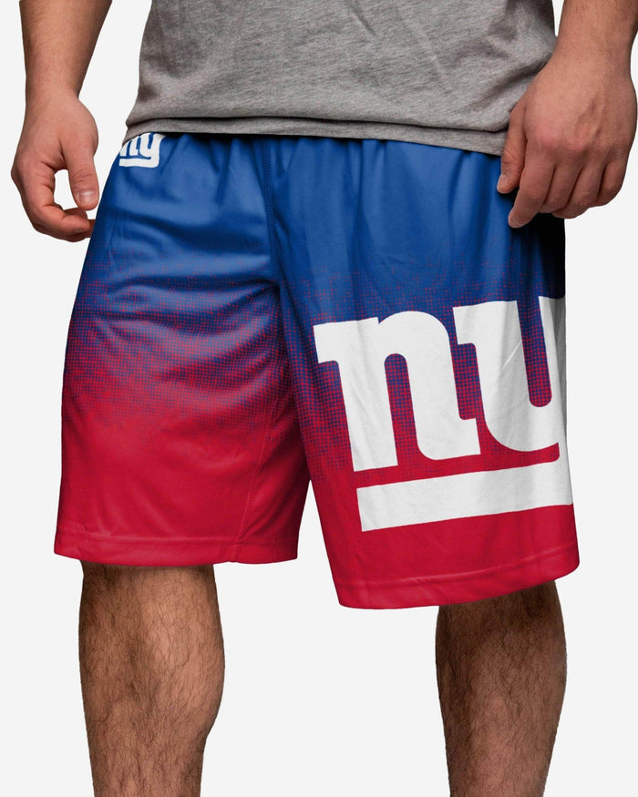 New York Giants Gradient Polyester Short FOCO - FOCO.com