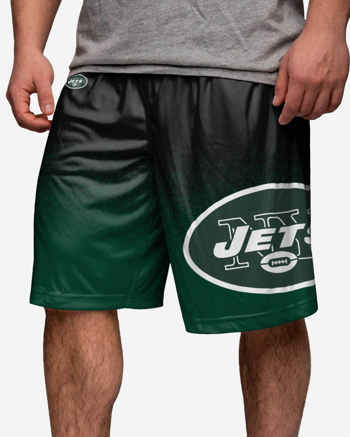 New York Jets Gradient Polyester Short FOCO - FOCO.com
