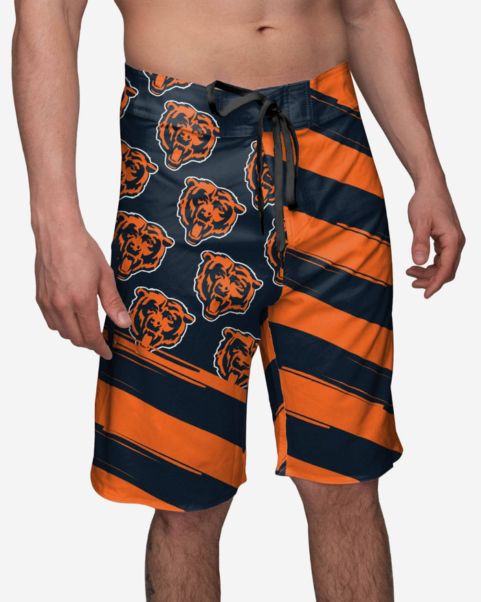 Chicago Bears Diagonal Flag Boardshorts FOCO S - FOCO.com