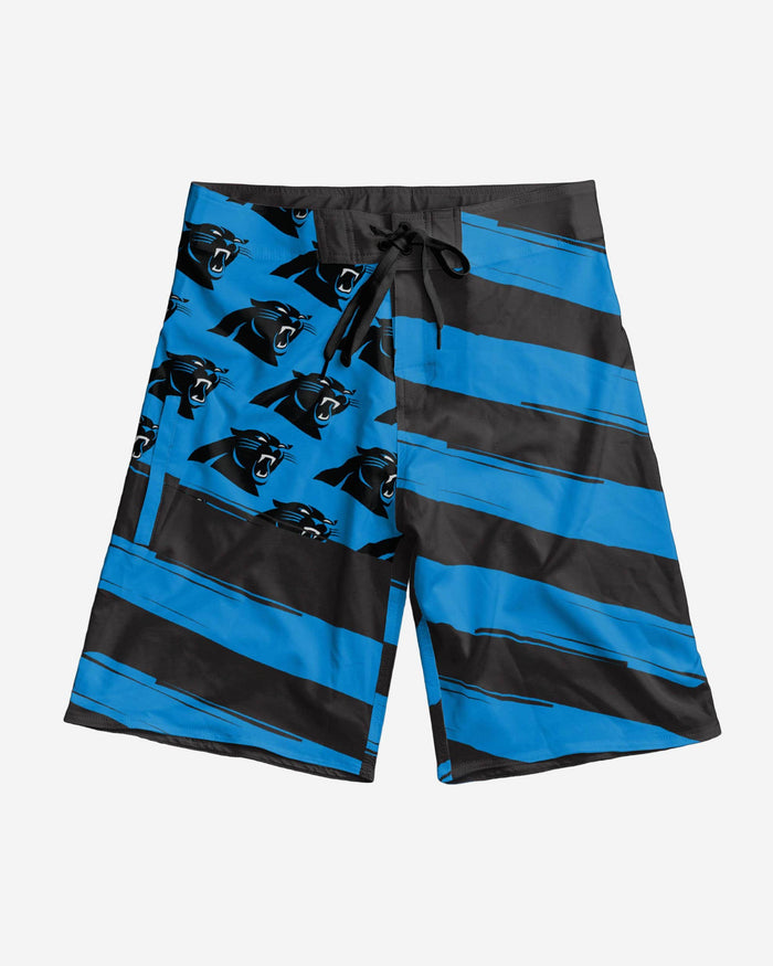 Carolina Panthers Diagonal Flag Boardshorts FOCO - FOCO.com