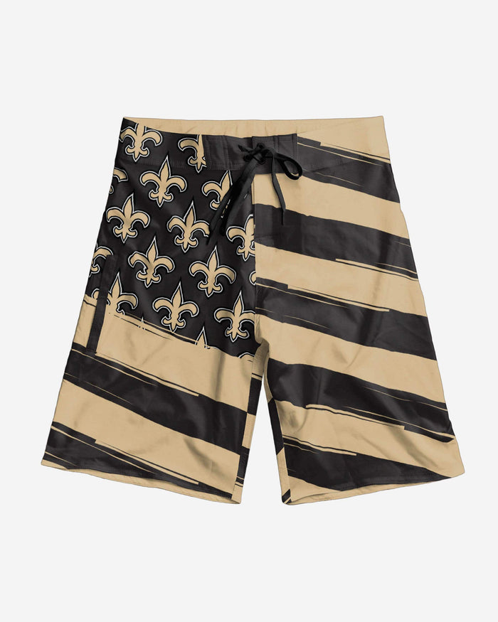 New Orleans Saints Diagonal Flag Boardshorts FOCO - FOCO.com