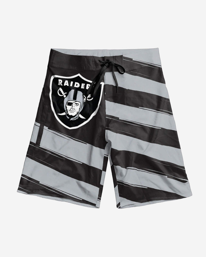 Oakland Raiders Diagonal Flag Boardshorts FOCO - FOCO.com
